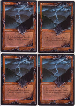 4x Lightning Bolt - altered mtg