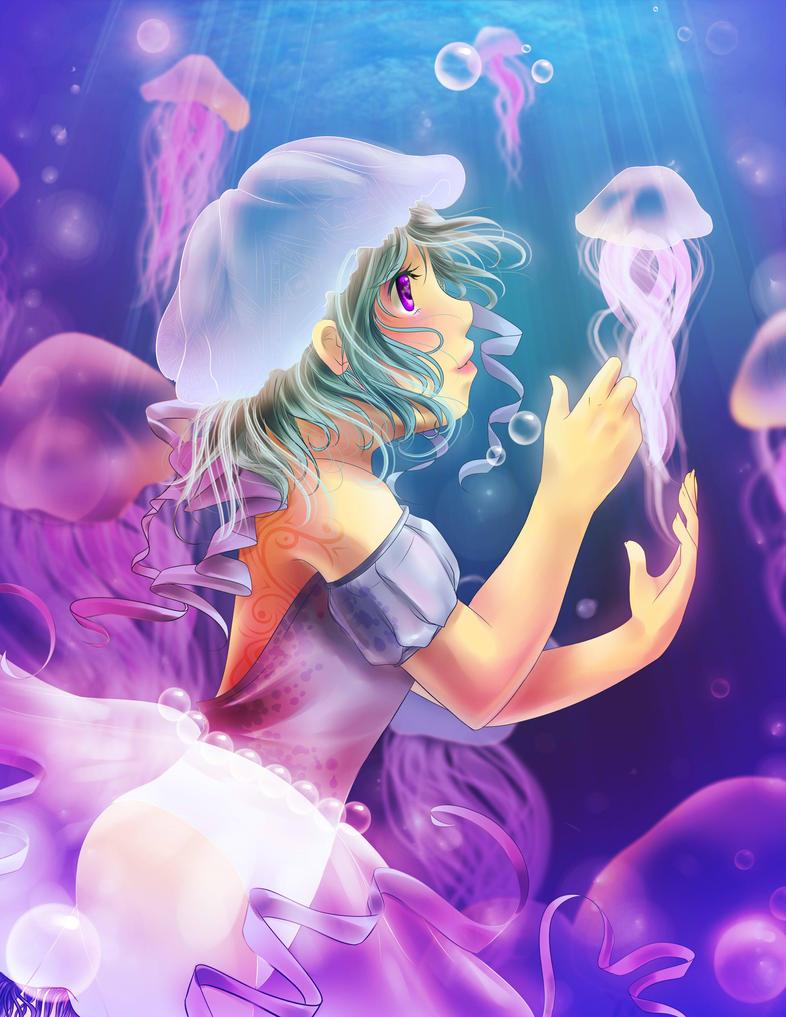 Jellyfish Princess by pikadiana