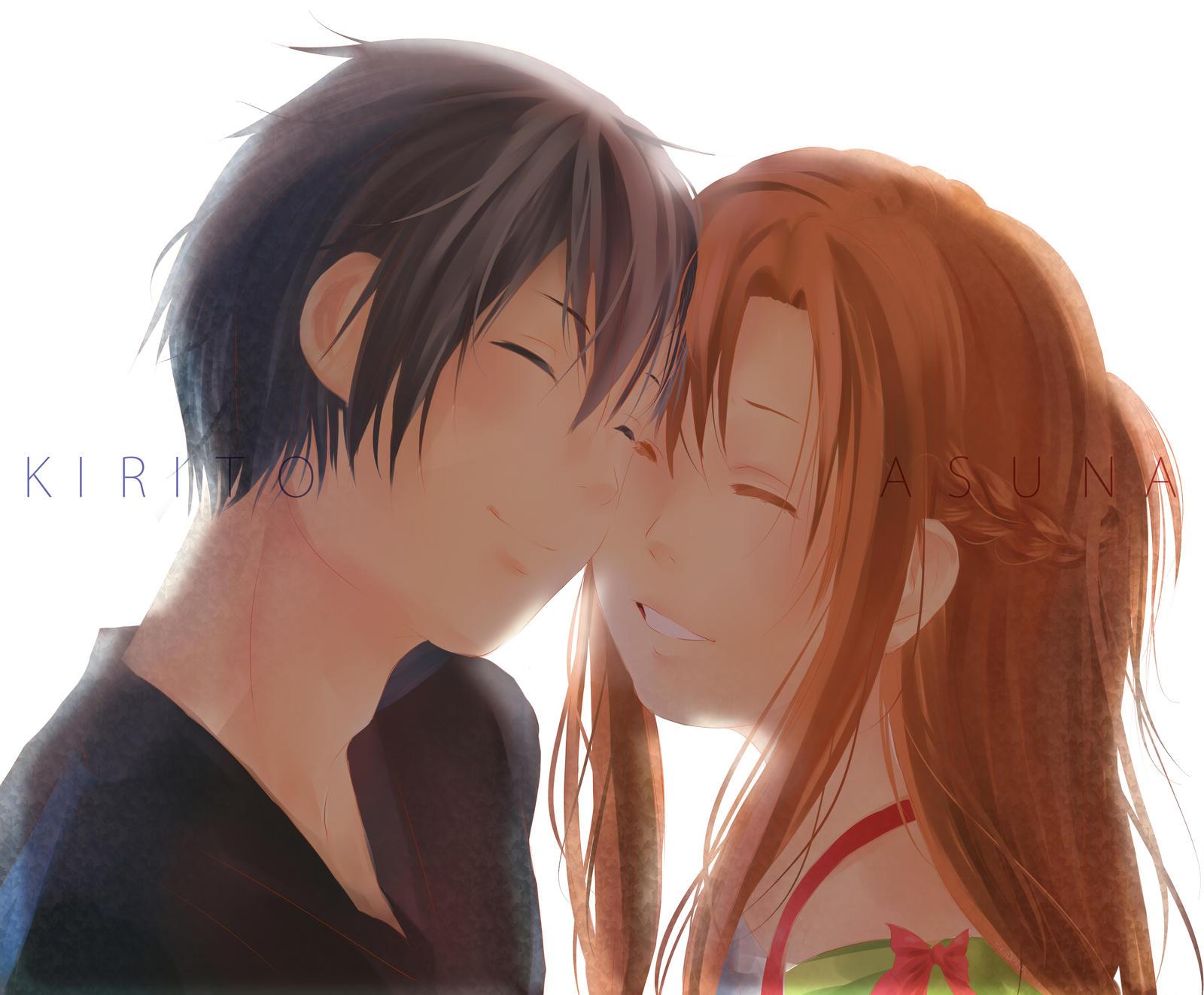 SAO: Kirito and Asuna by pikadiana