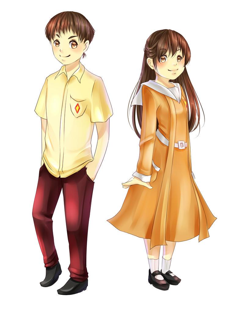 Commission: HighSchool Uniform by pikadiana