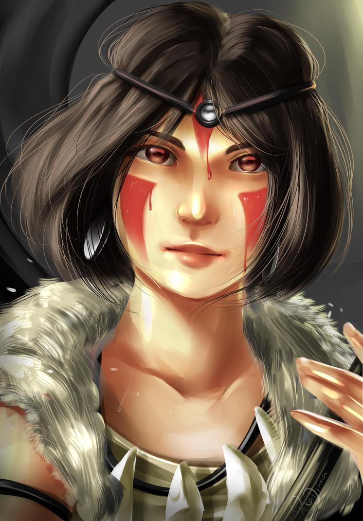 Mononoke-hime: SAN by pikadiana