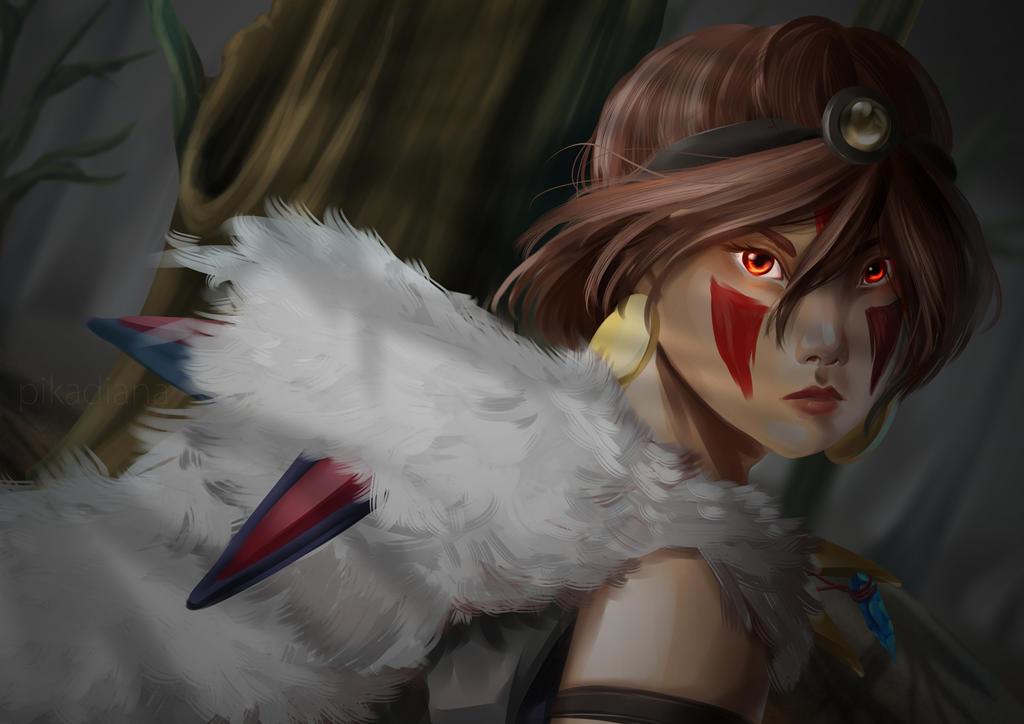 Princess Mononoke: SAN by pikadiana