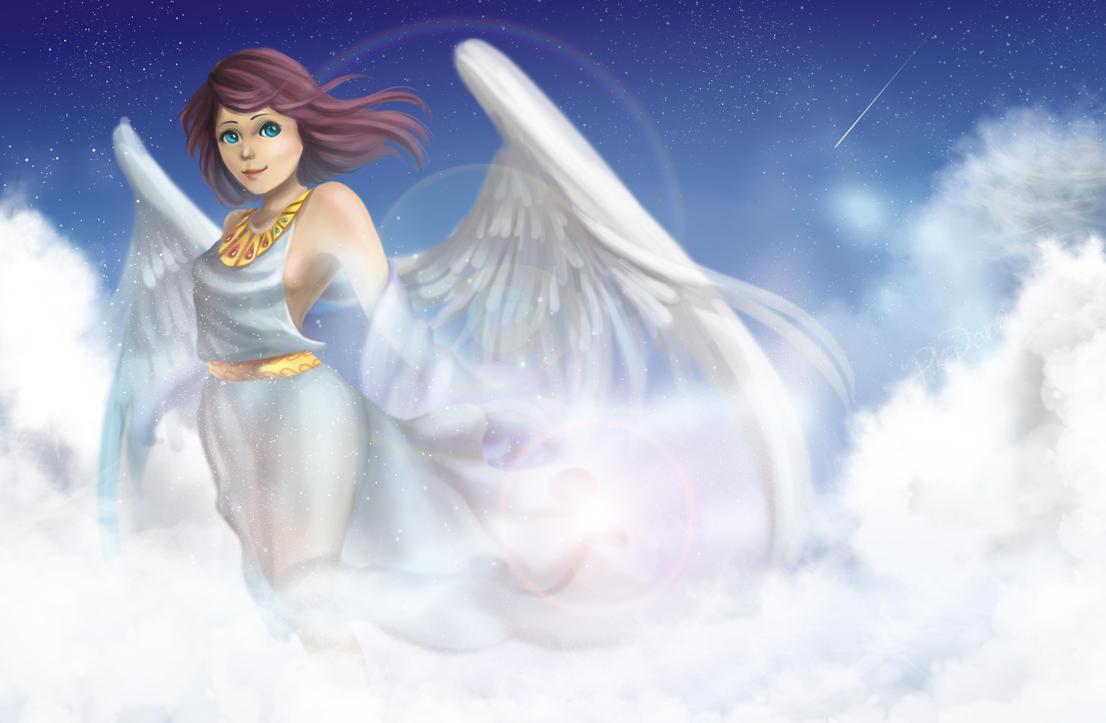 Sunrise Angel by pikadiana