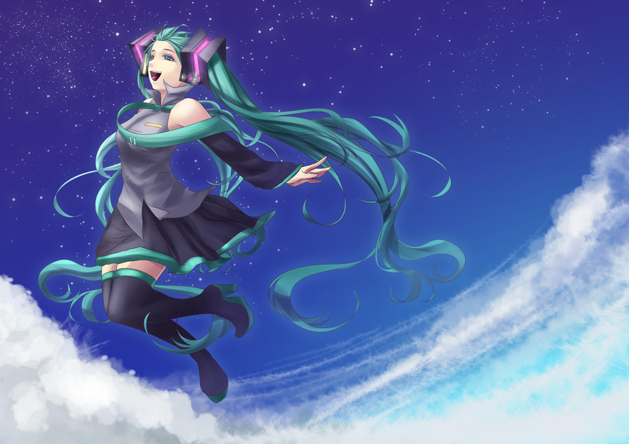 Hatsune: Take off by pikadiana
