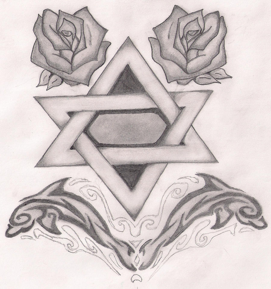 Star of david roses by beastlyrunner4wash on deviantart for Star of david tattoo designs