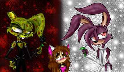 Dark SpringTrap and Light Bonnie