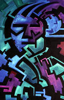 Abstract Male, Cool Colors by ivanjs