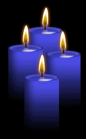 Image result for blue candle