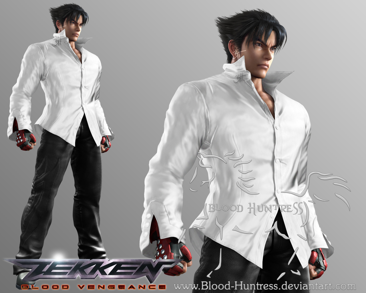 Jin Kazama White Shirt 2012 05 By Blood Huntress On Deviantart