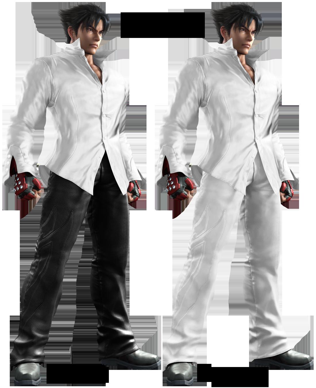 Jin Kazama White Shirt Outfit Cg By Blood Huntress On Deviantart