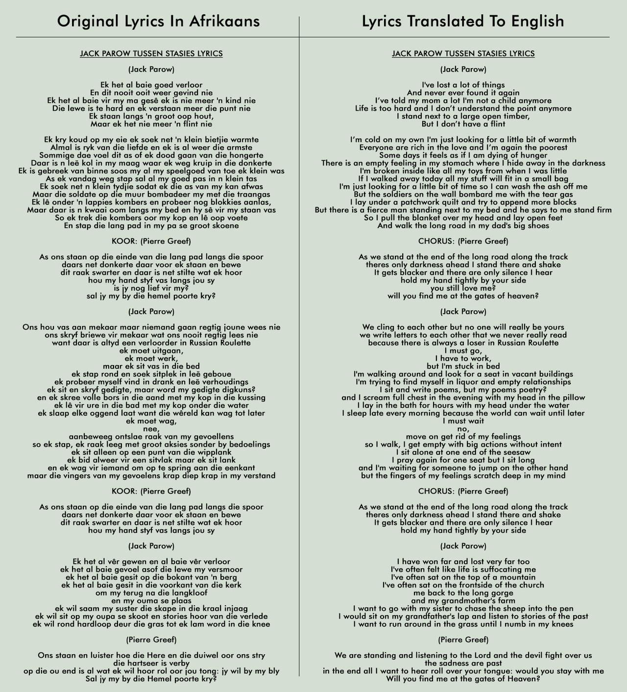 Tussen Stasies Lyrics by Blood-Huntress on DeviantArt