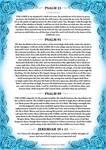 Psalm 23, 91, 99 + Jeremiah 29 v 11 Blue Version by Blood-Huntress