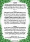Psalm 23, 91, 99 + Jeremiah 29 v 11 Green Version by Blood-Huntress