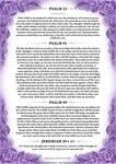 Psalm 23, 91, 99 + Jeremiah 29 v 11 Purple Version by Blood-Huntress