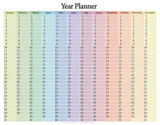 Year Planner Calendar by Blood-Huntress