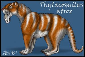 Thylacosmilus atrox by Leonca