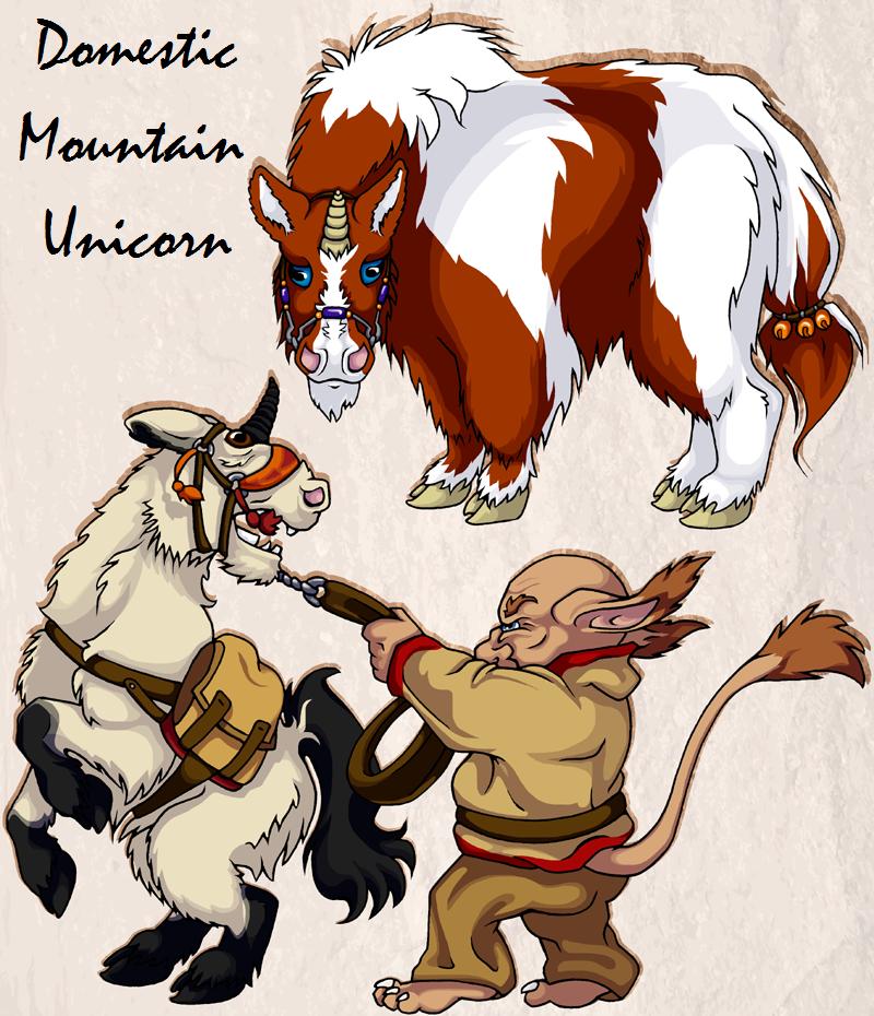 Domestic Mountain Unicorns by Leonca