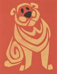 Yellow Bulldog by Leonca