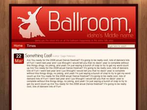 Ballroom website Mockup