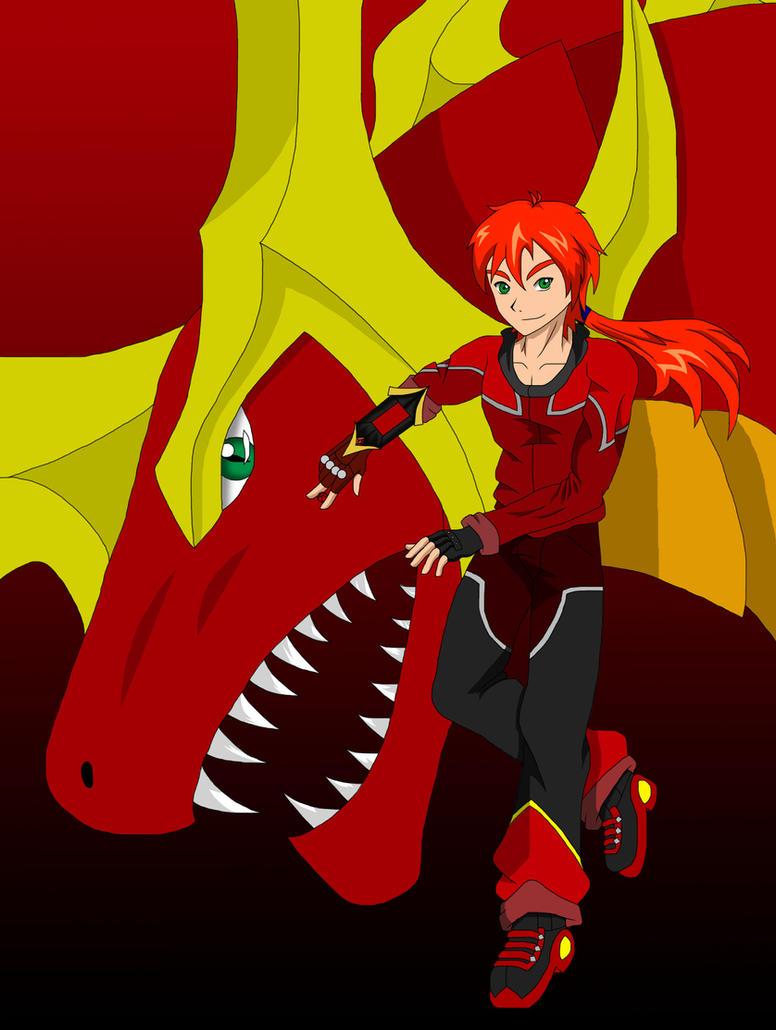 Kenshin Haruno and Pyrus Phoenix Dragonoid by Pyrus-Leonidas
