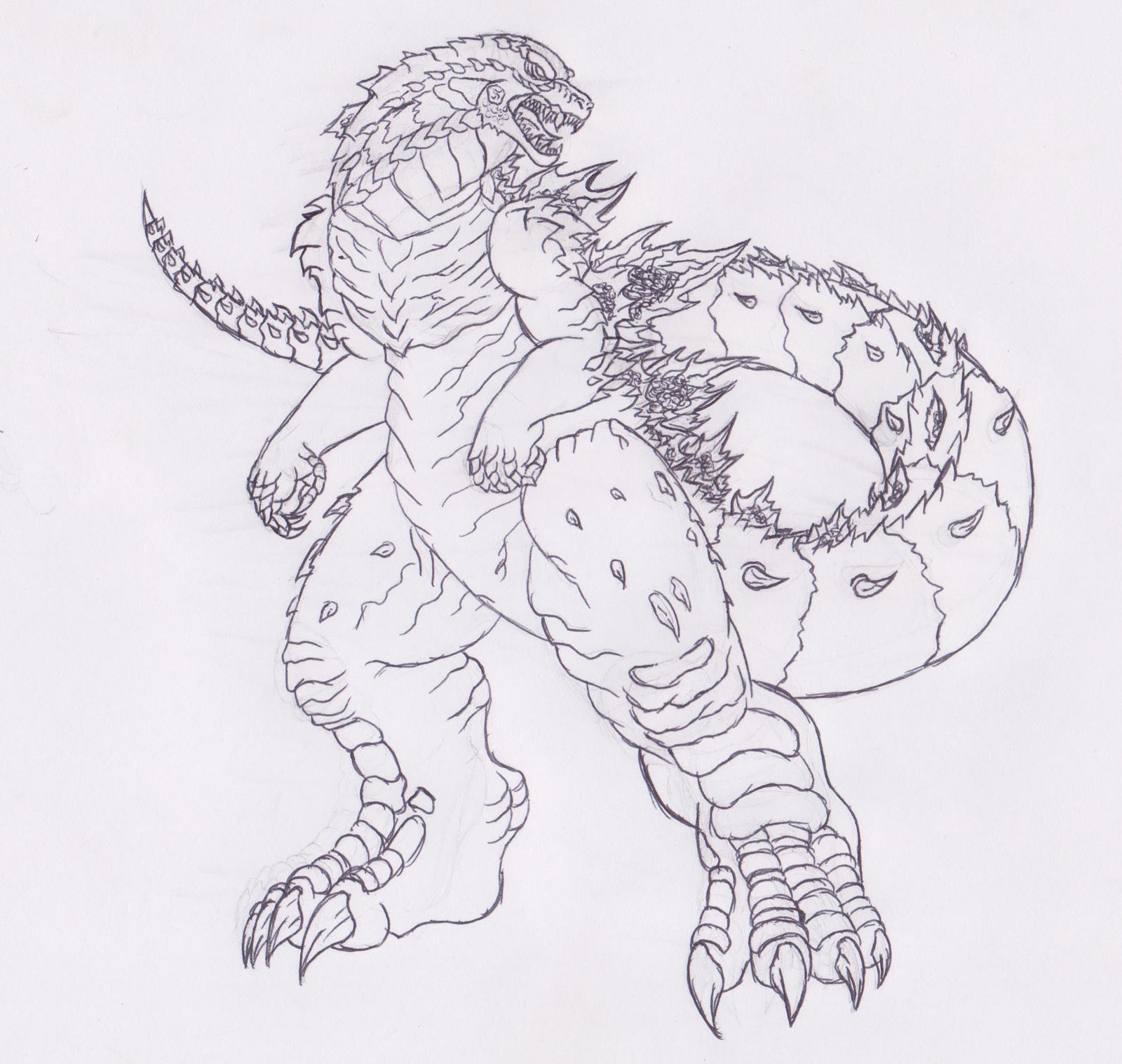 my fan made design of Godzilla 2014 by Pyrus-Leonidas