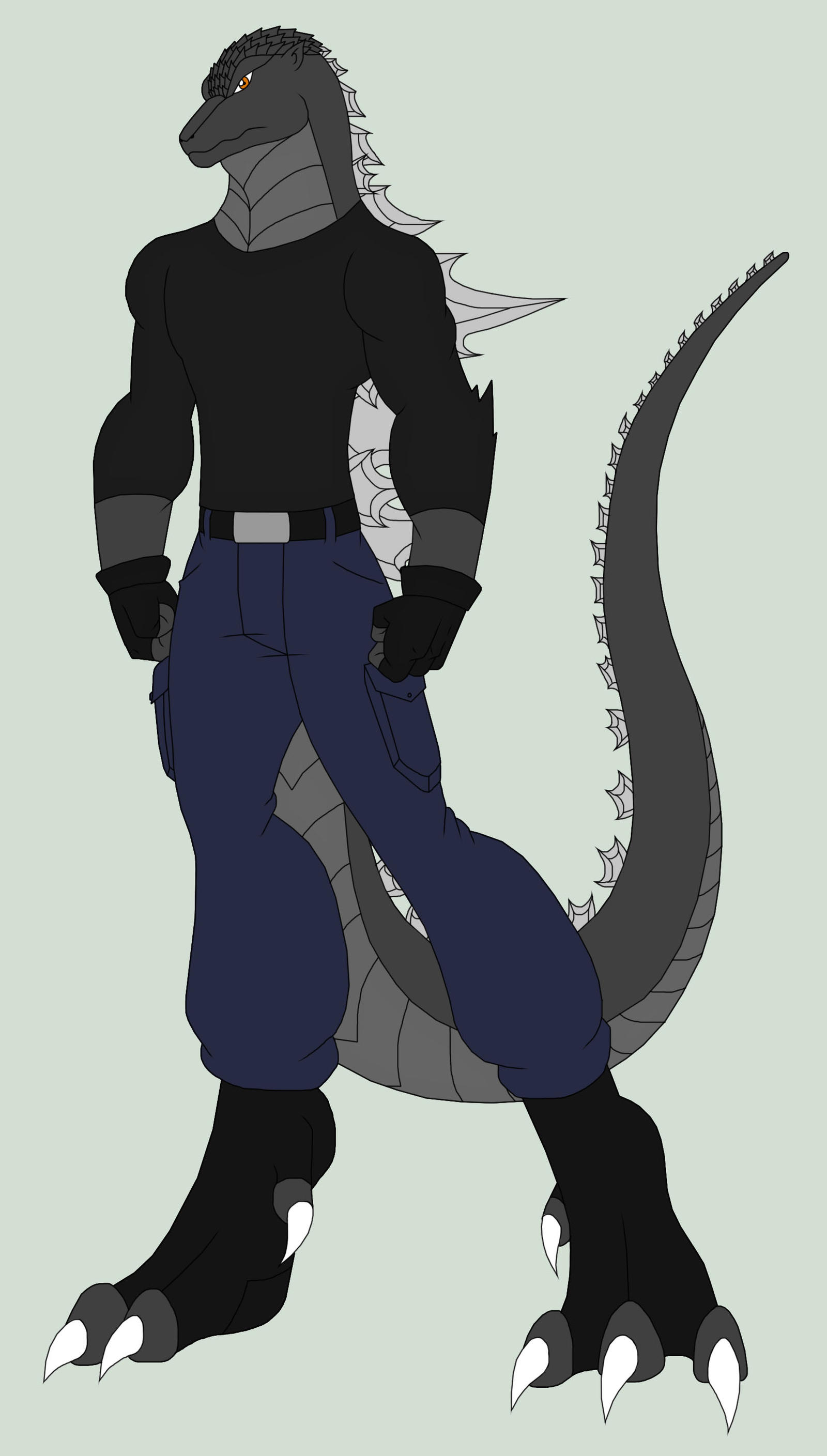 Godzilla Anthro by Pyrus-Leonidas