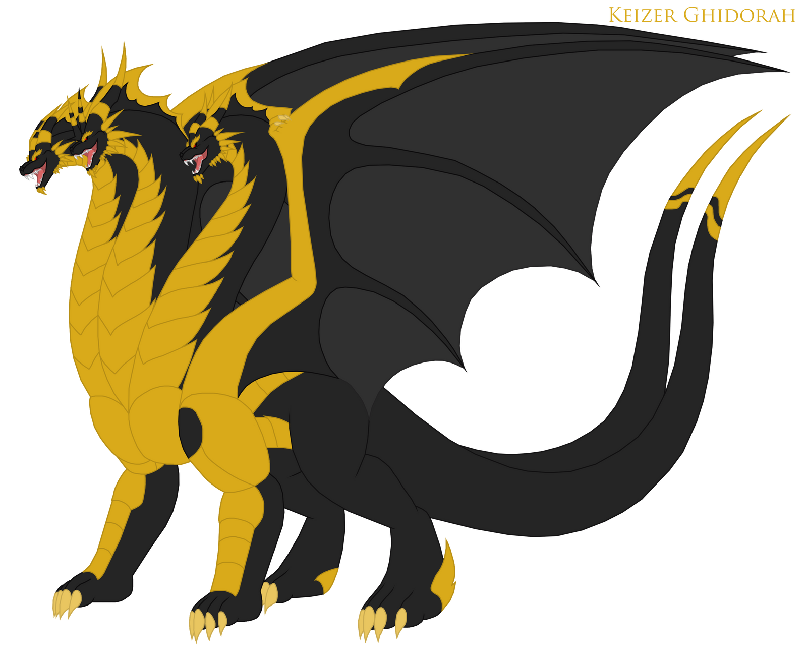 Keizer Ghidorah Redesign By Pyrus-Leonidas On DeviantArt