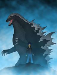 Flash Sentry and Godzilla by Pyrus-Leonidas