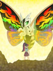 Twilight and Mothra Lea by Pyrus-Leonidas