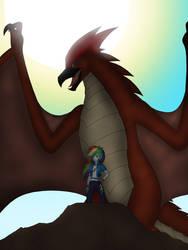 Rainbow Dash and Rodan by Pyrus-Leonidas