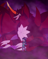Starlight Glimmer and Destroyah by Pyrus-Leonidas
