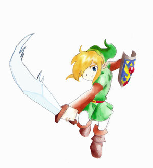 Link Sword Attack by theclubofzelda