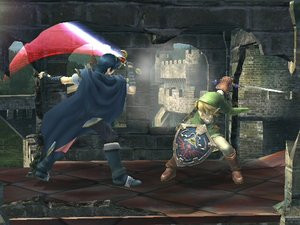Marth VS. Link by theclubofzelda