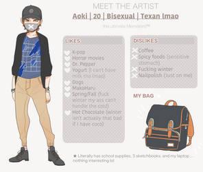 Meet the artist by AokiBrooks
