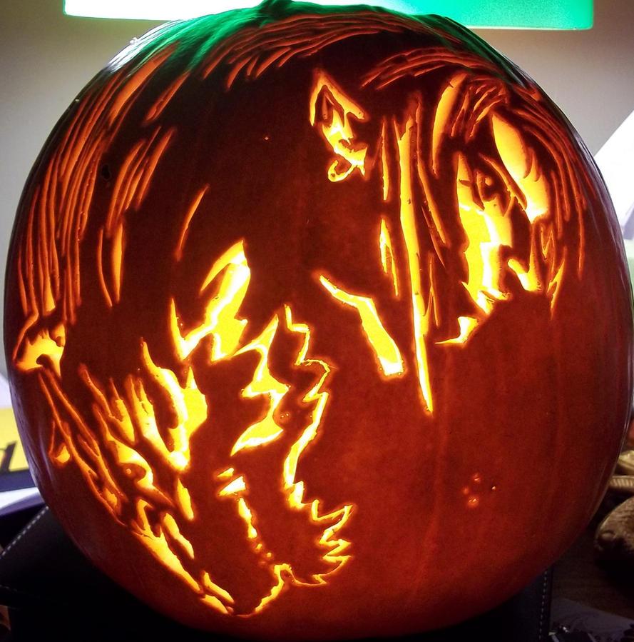 Twilight princess pumpkin 2 by thenaturallink on deviantart for Pumpkin eating pumpkin stencil
