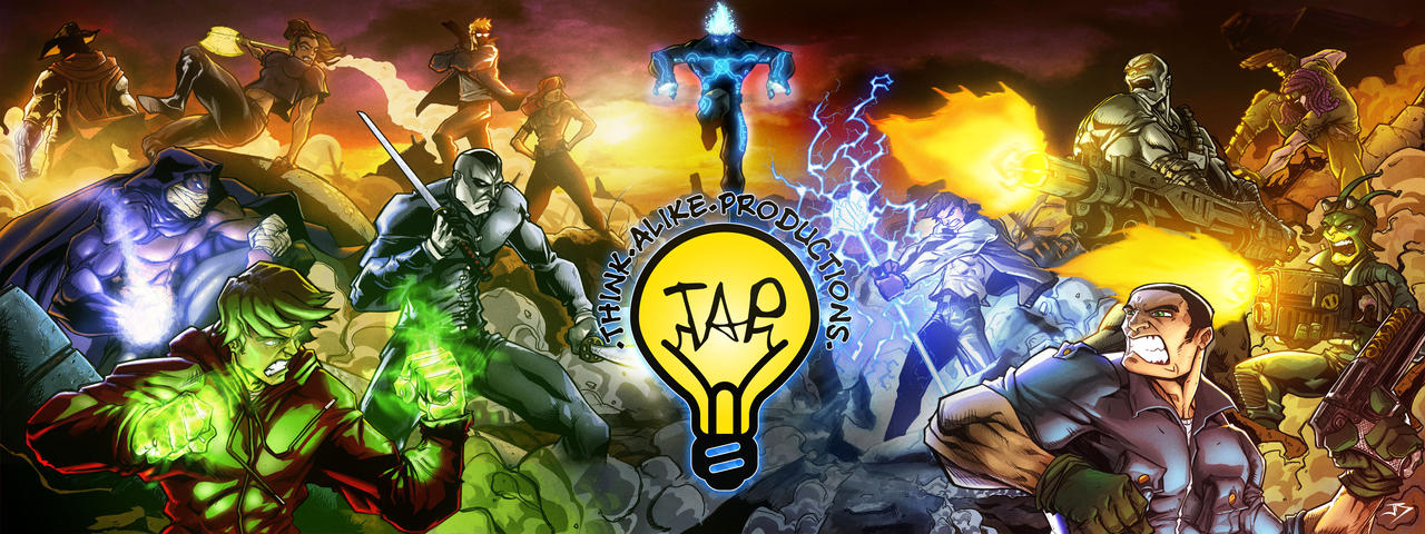 Think Alike Comic Banner by Anothen