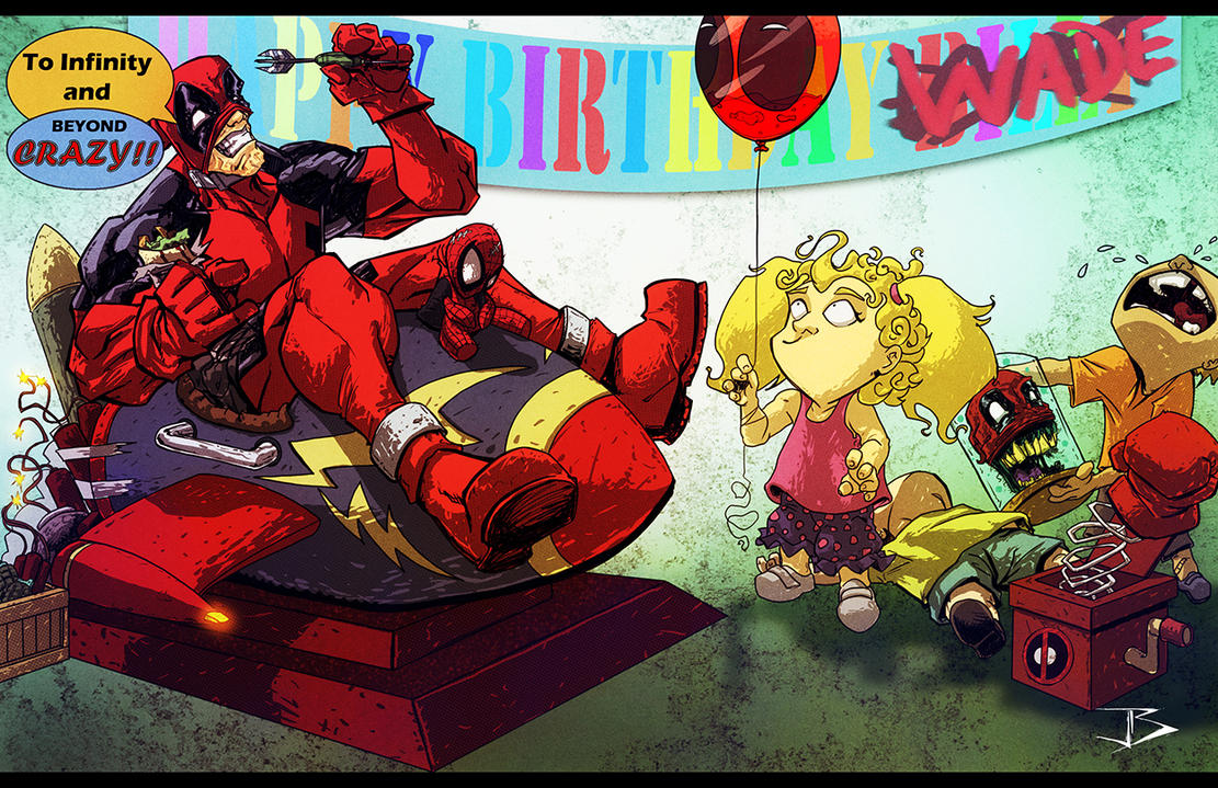 Deadpool Birthday Crasher by Anothen