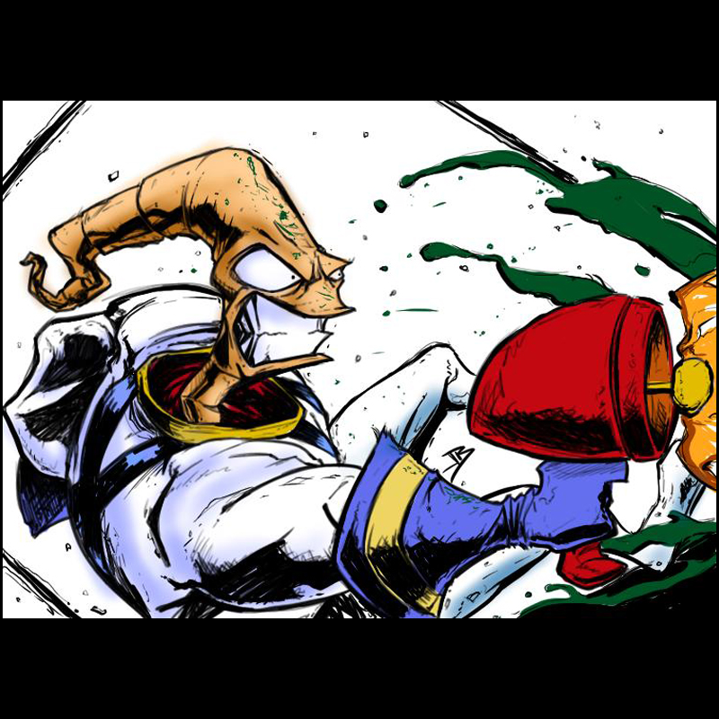 Earthworm Jim Daily Sketch by Anothen