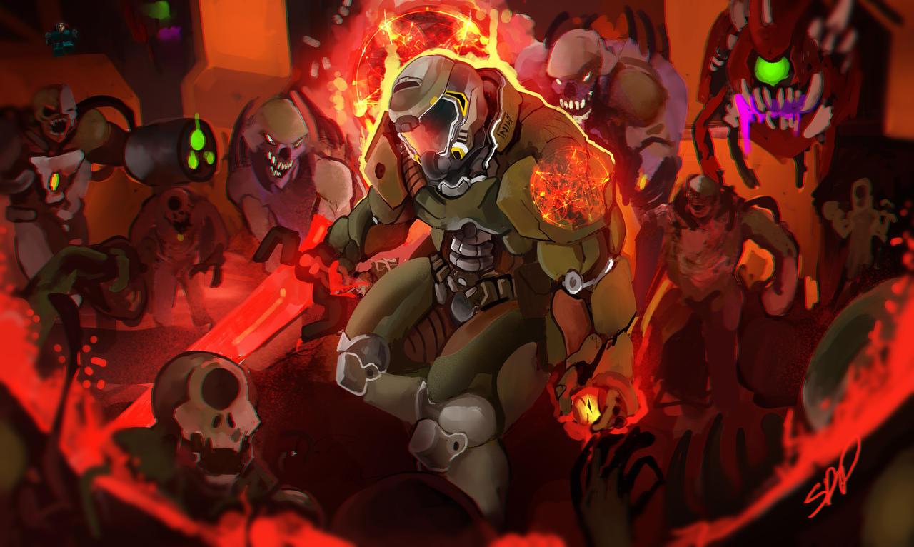 The Doom Slayer By Brokencreation On Deviantart