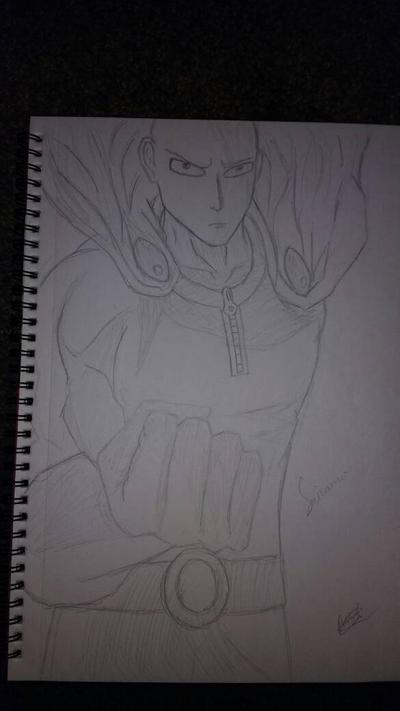 Saitama (One Punch Man quick sketch) by zTLEG360QSz