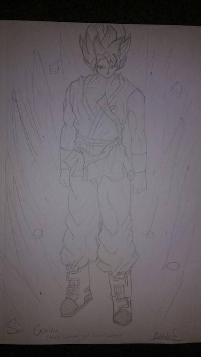 God Goku (Super Saiyan Blue) by zTLEG360QSz