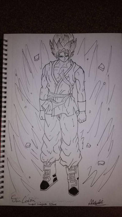 Son Goku (Lined) by zTLEG360QSz