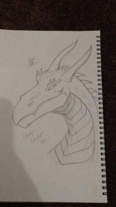 Dragon Concept Art by zTLEG360QSz