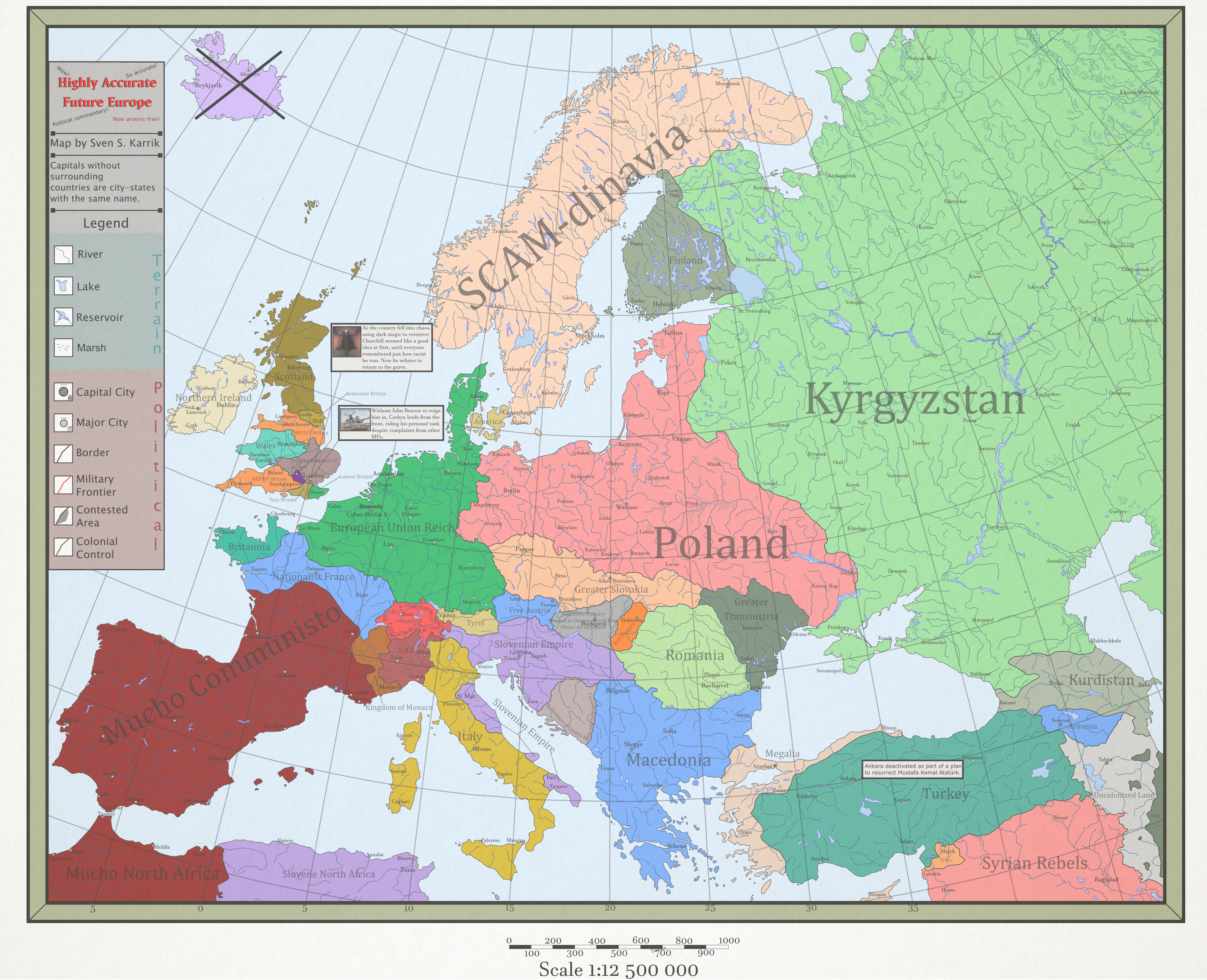 map of europe in future Very Real Future Europe Map by theroofcannon on DeviantArt