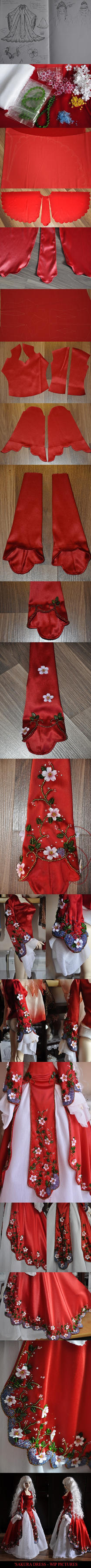 Sakura dress - WIP by mio27