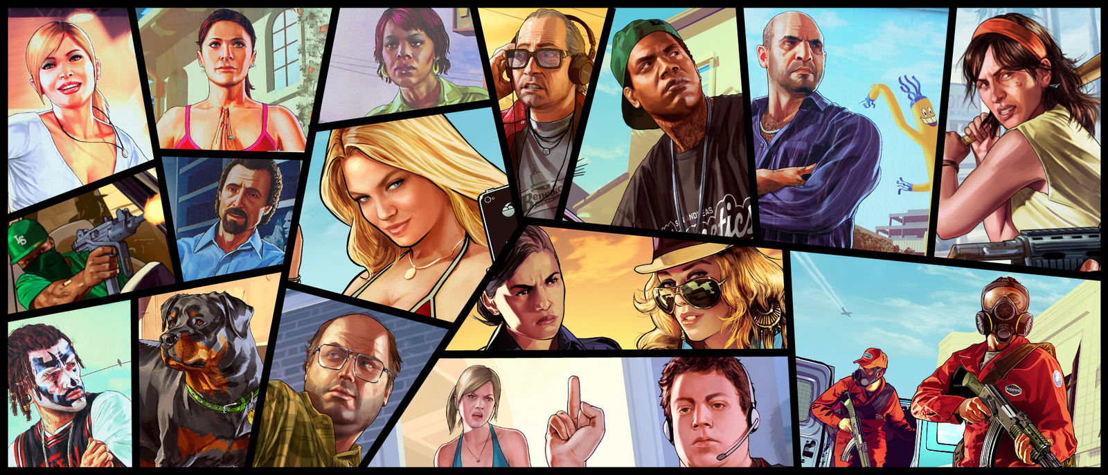 GTA V Art: Meet your Friends, Families and Enemies by ...  GTA V Art: Meet...