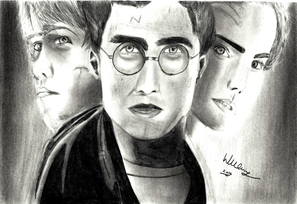 Harry potter, Ron and Hermione. by WillSpiderMan