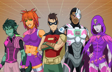 The Radical Teen Titans by DannyK999