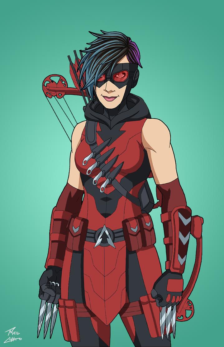 Red Arrow-ette (Emiko Queen) by DannyK999