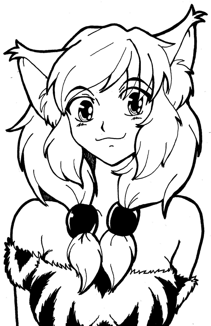 Cat Anime Coloring Pages